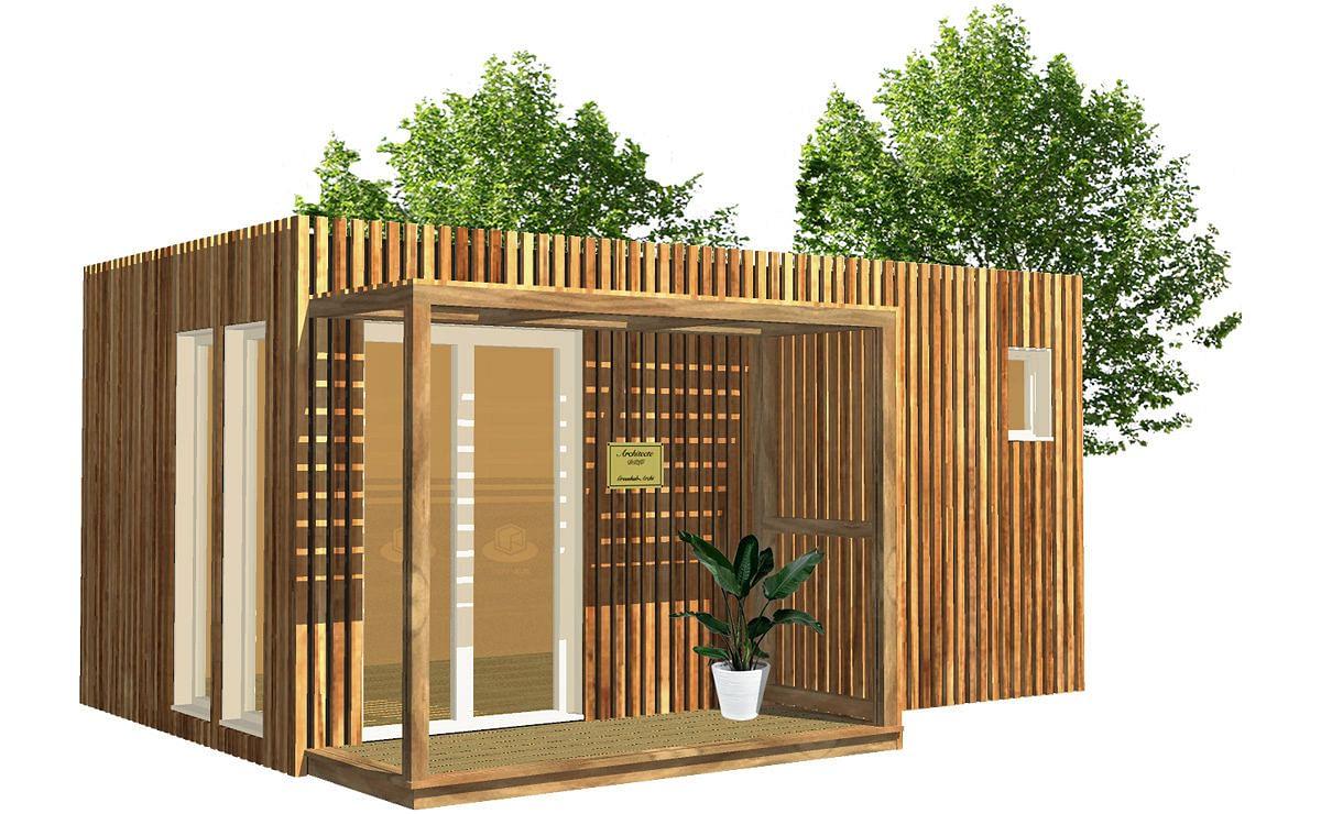 Architecte Jardin 3D Gratuit studio de jardin en bois, 15m²