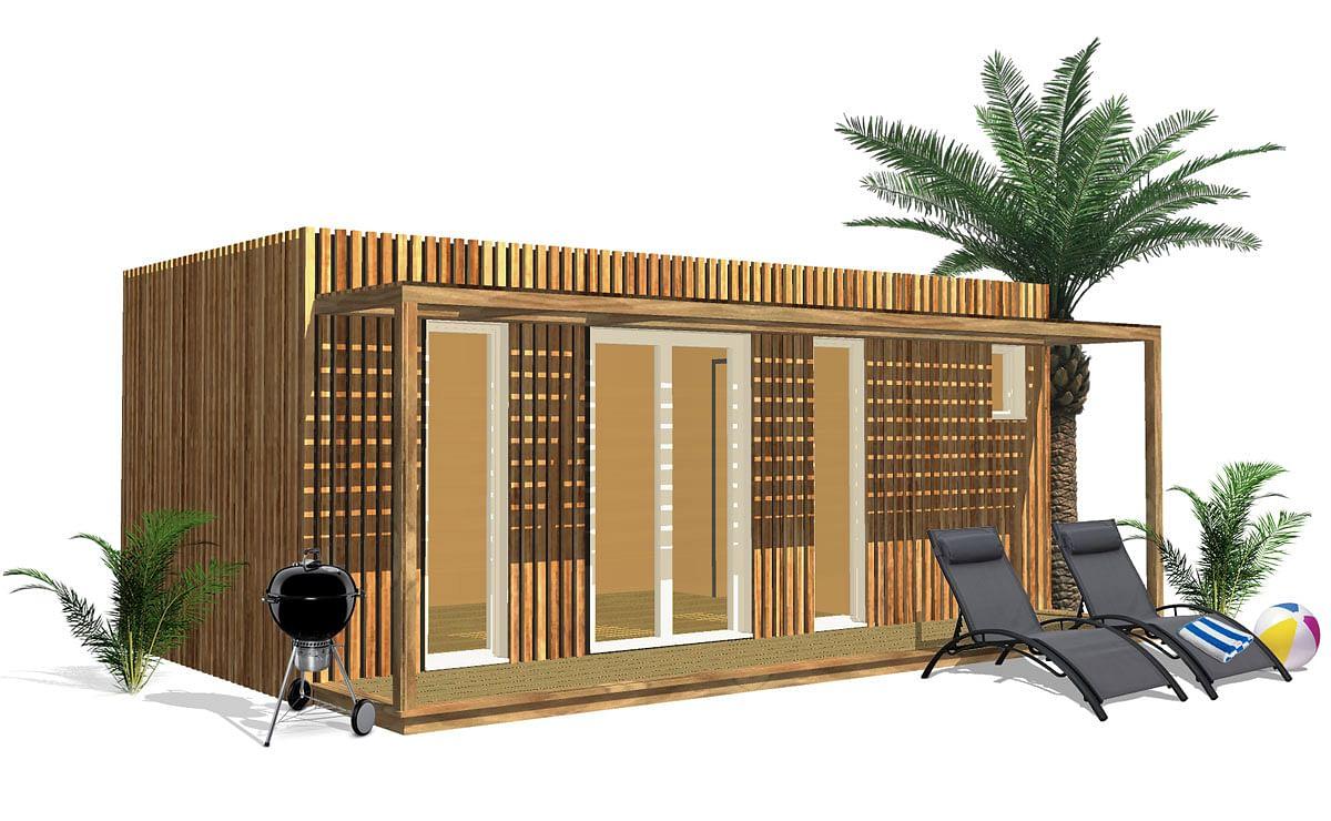 Construire Abris Bois pool house
