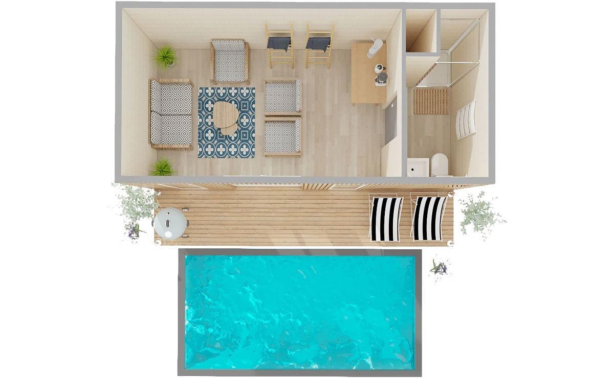 Plan Ou Photo Pool House Pour Piscine pool house