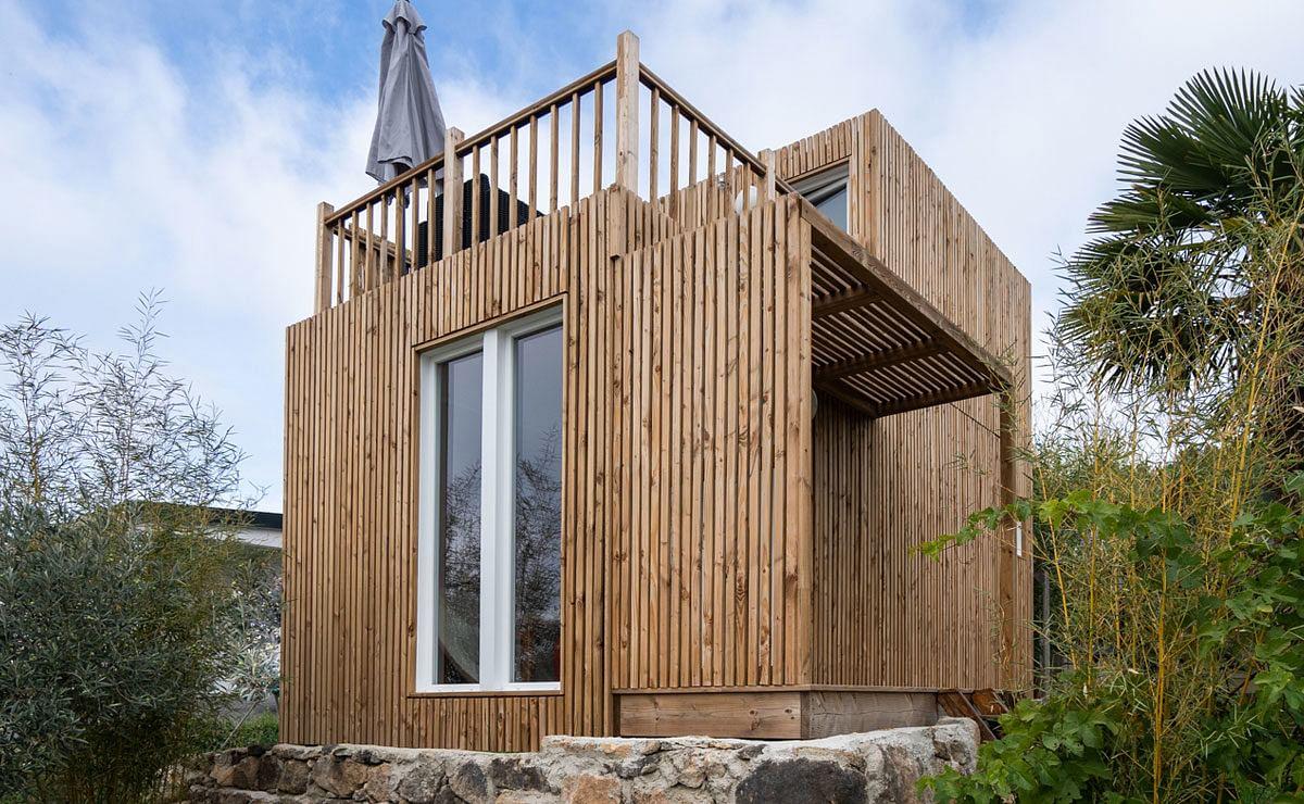 Creer Une Terrasse Tropezienne studio de jardin avec chambre et terrasse, 25m²