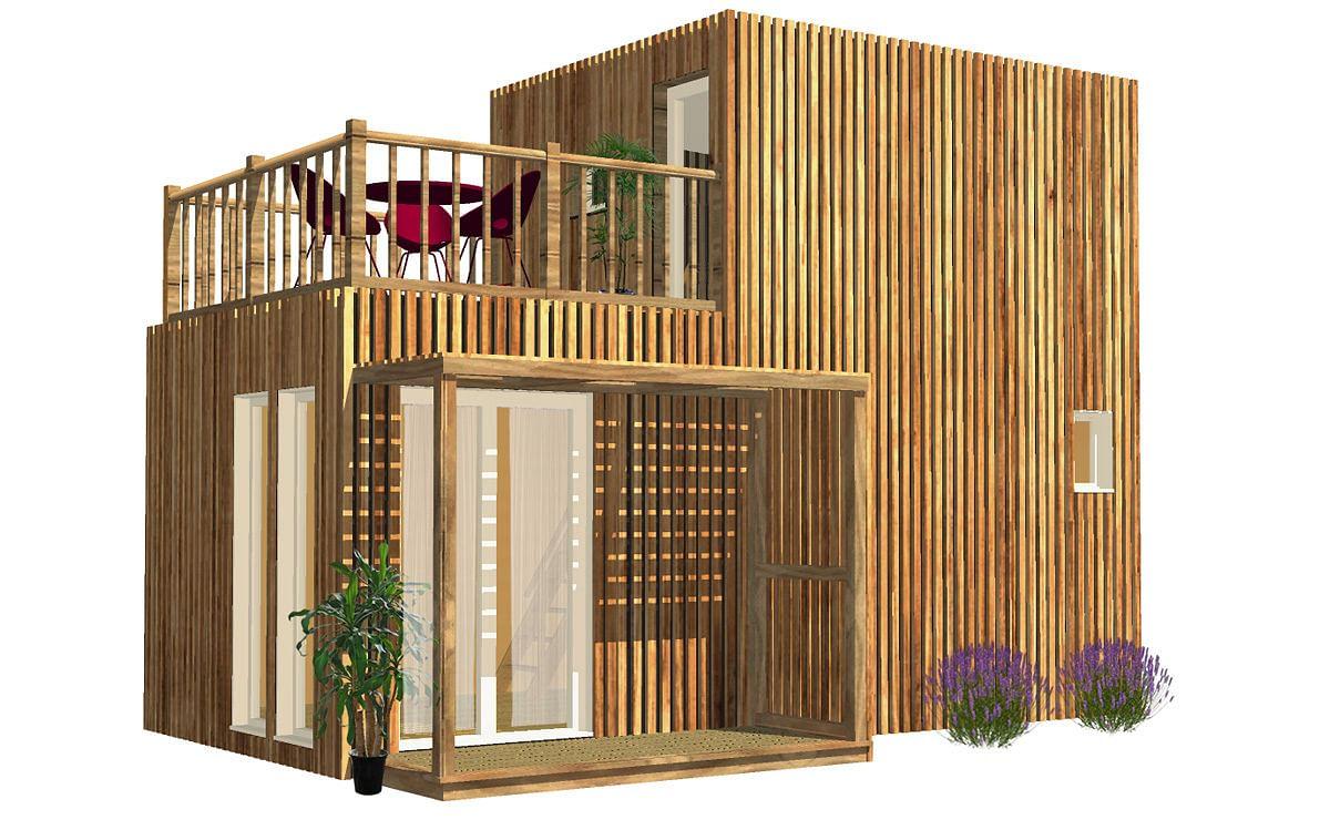 Creer Une Terrasse Tropezienne studio de jardin avec chambre et terrasse, 30m²