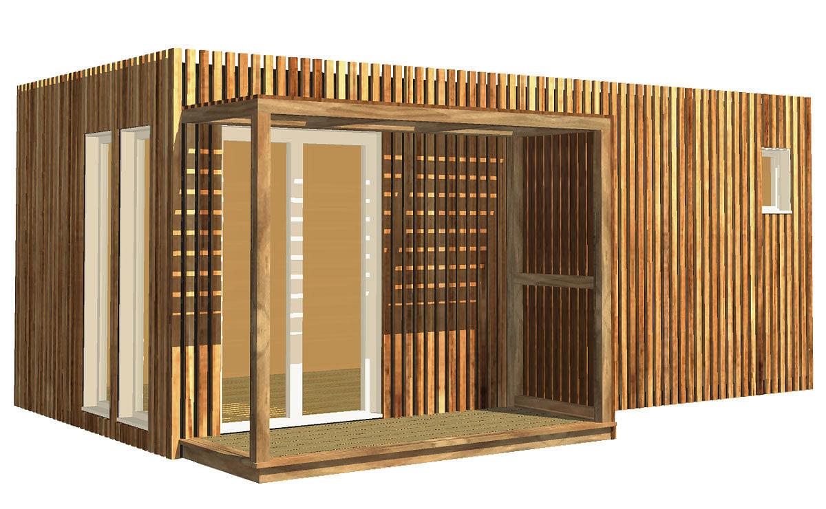 Abri De Jardin En Bois A Monter Soi Meme studio de jardin en bois, 20m²